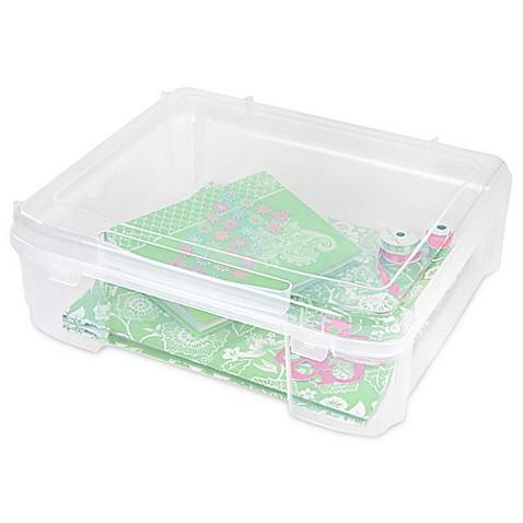 Iris 174 Plastic Scrapbook Storage Cases Bed Bath Amp Beyond