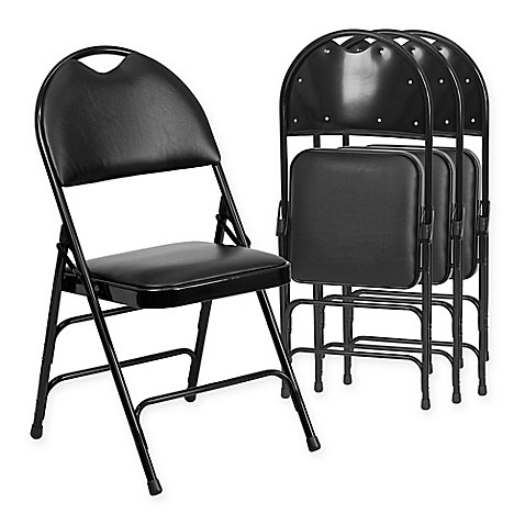 Flash Furniture Fabric 4 Pack Folding Chair In Bed Bath