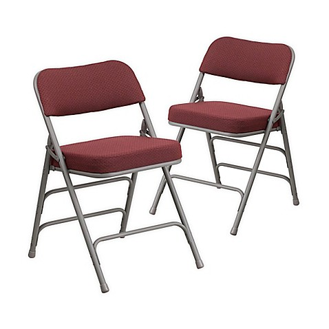 Flash Furniture Hercules Padded Folding Chairs In Burgundy