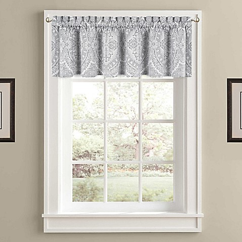 J Queen New York Colette Window Valance In Silver Bed