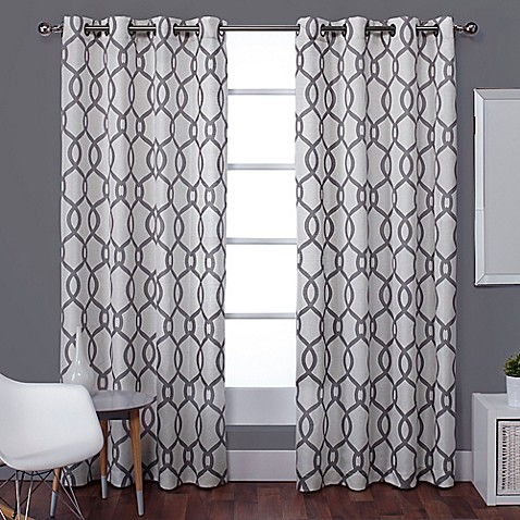 Exclusive Home Kochi 96 Inch Lined Window Curtain Panel Pair Bed Bath Beyond