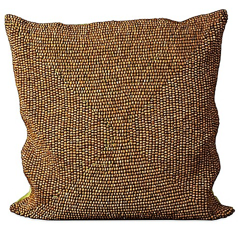 24 Square Throw Pillows : Mina Victory Wood Beads 24-Inch Square Throw Pillow - Bed Bath & Beyond