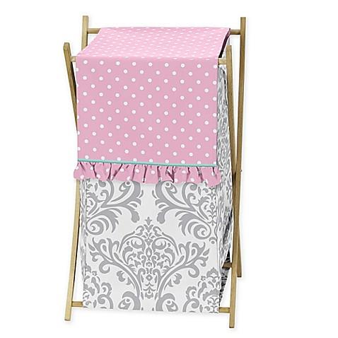 Sweet jojo designs skylar hamper bed bath beyond for Sweet jojo designs bathroom