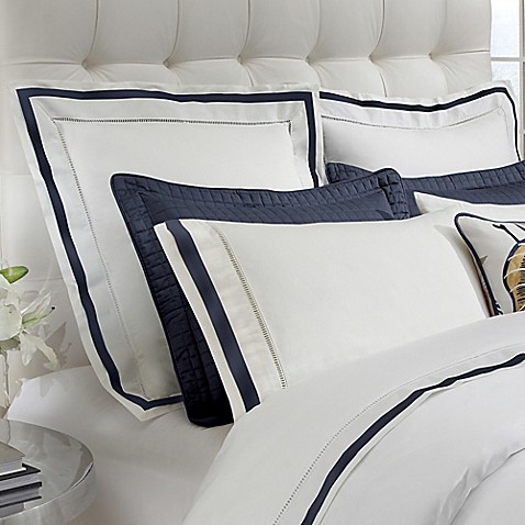 Downtown Company Chelsea Euro Pillow Sham In White Navy