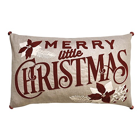 Merry Little Christmas Oblong Throw Pillow - Bed Bath & Beyond