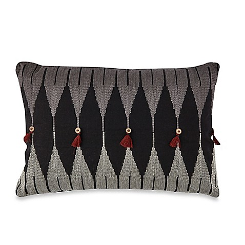 Tribal Rectangle Throw Pillow in Black/White - Bed Bath & Beyond
