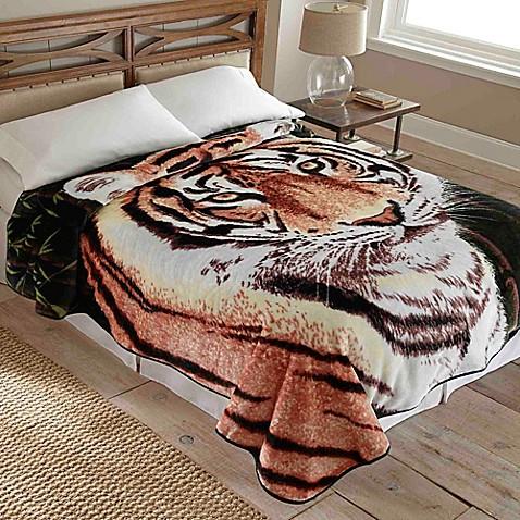 Hi Pile Luxury Oversized Tiger Blanket Bed Bath Amp Beyond