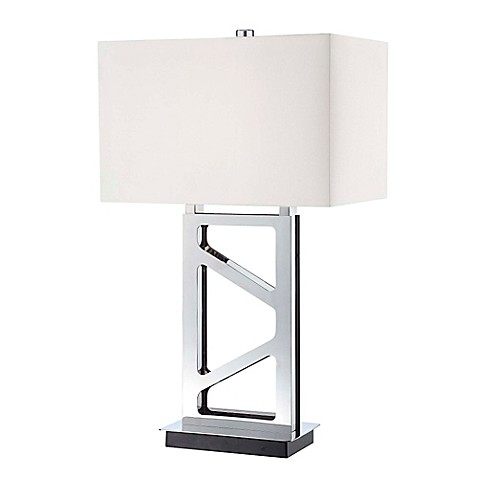George kovacs portables 11 inch table lamp with polished for 11 inch table