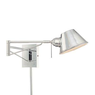 Wall Lamps Bed Bath Beyond : George Kovacs 1-Light Swing Arm Chrome Wall Sconce - Bed Bath & Beyond