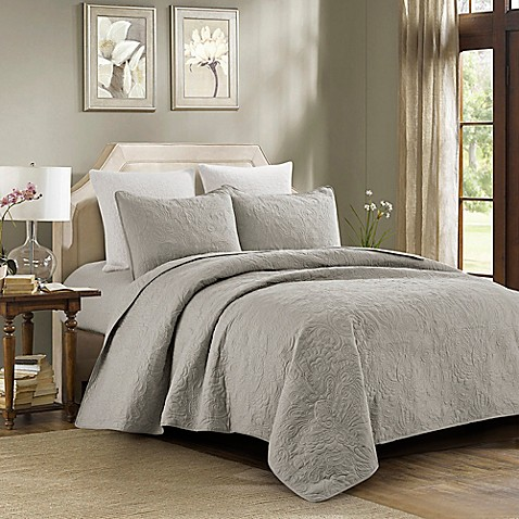 Ashley Quilt Set In Grey Bed Bath Amp Beyond