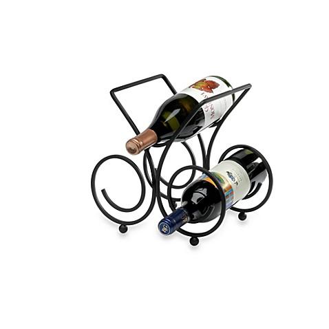 Spectrum Bordeaux Black 3 Bottle Wine Rack Bed Bath