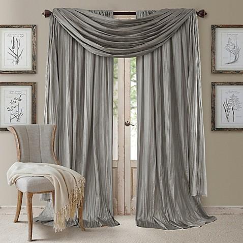 Elrene Athena Rod Pocket Window Curtain Panels And Scarf