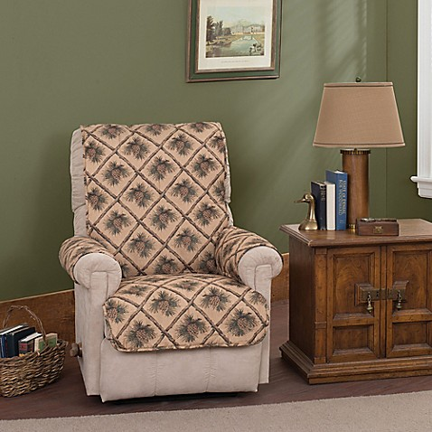 Pine Cones Recliner And Wing Chair Protector Bed Bath