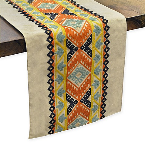 Dresden southwest inspired table runner bed bath beyond for Table runners 52 inches