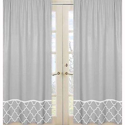 Sweet jojo designs trellis border window panel pair in for Window trellis design