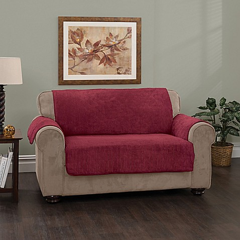 Plush Stripe Loveseat Cover Bed Bath Amp Beyond