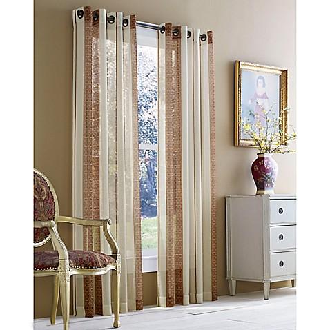 Buy J Queen New York 108 Inch Roosevelt Sheer Grommet Window Curtain Panel In Brick From Bed