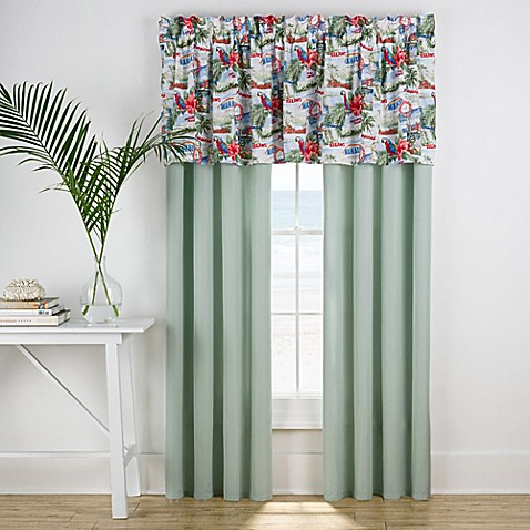Tropical Vacation Window Valance Bed Bath Amp Beyond
