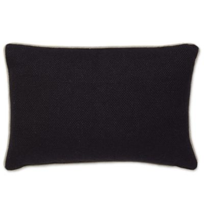 Buy Aura Basket Weave Oblong Throw Pillow in Black from Bed Bath & Beyond