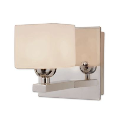 Wall Lamps Bed Bath Beyond : Bel Air Lighting Opal Cube Wall Sconce - Bed Bath & Beyond