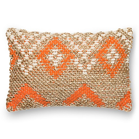 Bed Bath And Beyond Orange Throw Pillows : Buy Loloi Jessica Rectangle Throw Pillow in Orange/Beige from Bed Bath & Beyond