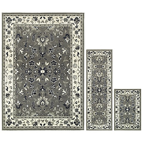 Buy Oriental Weavers Windsor 3 Piece Area Rug Set In Grey