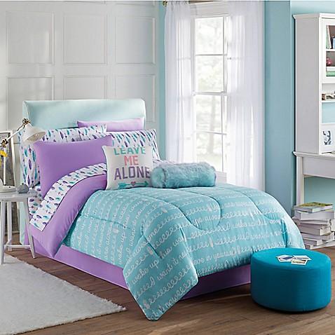Claudette Comforter Set In Purple Blue Bed Bath Amp Beyond
