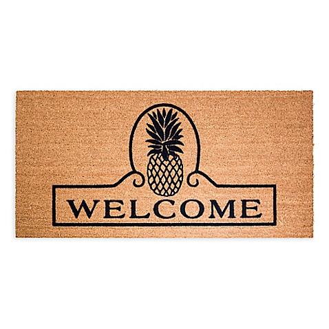 Decoir Pineapple Welcome Door Mat Bed Bath Amp Beyond