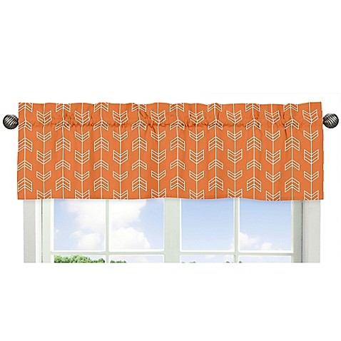 buy sweet jojo designs arrow window valance in orange. Black Bedroom Furniture Sets. Home Design Ideas
