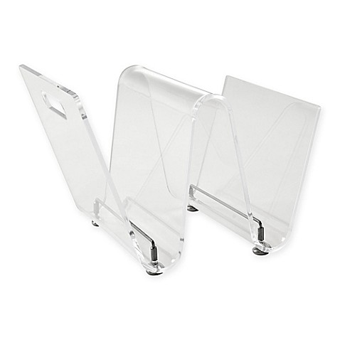 Modway Clear Magazine Rack at Bed Bath & Beyond in Cypress, TX | Tuggl