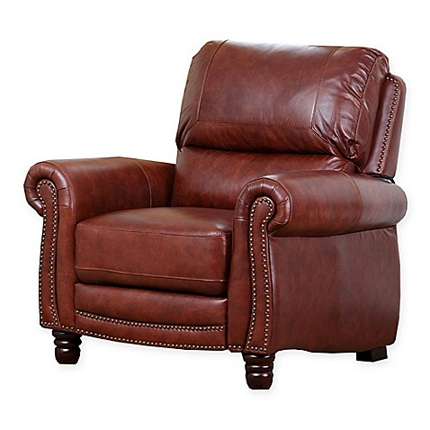 Buy abbyson living pushback leather recliner from bed for Abbyson living sedona leather chaise recliner