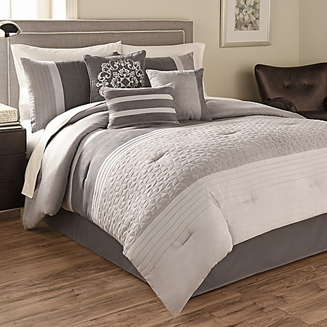 Hallmart collectibles theo comforter set bed bath beyond - Bed bath and beyond bedroom furniture ...
