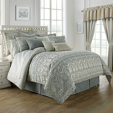 Waterford 174 Linens Allure Reversible Comforter Set Bed