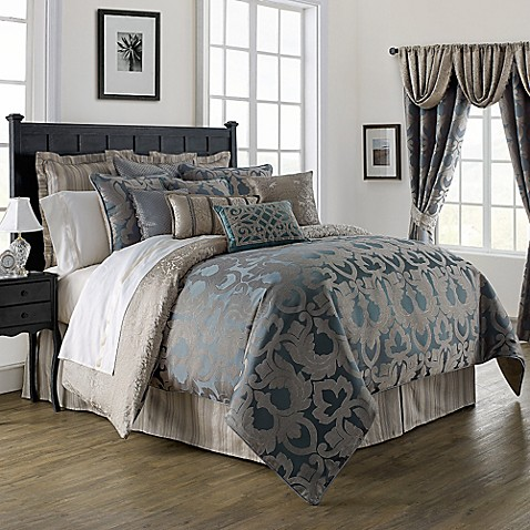 Waterford 174 Linens Chateau Lake Comforter Set In Slate