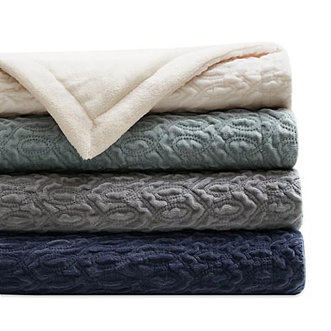 Regency Heights Quilted Velvet Throw Blanket Bed Bath