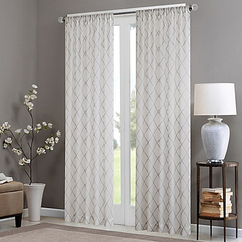 Madison Park Irina Rod Pocket Sheer Window Curtain Panel