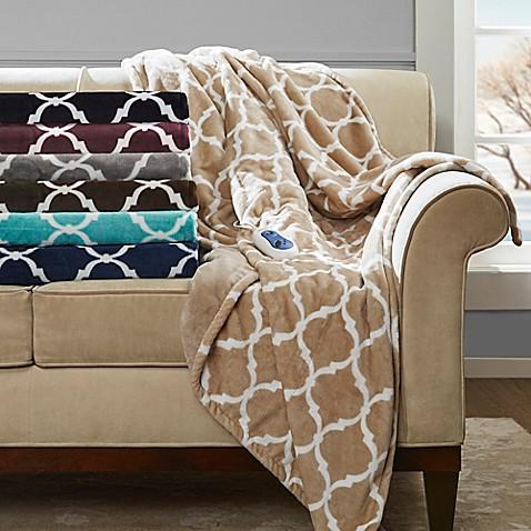 Beautyrest® Ogee Heated Throw Blanket   Tuggl