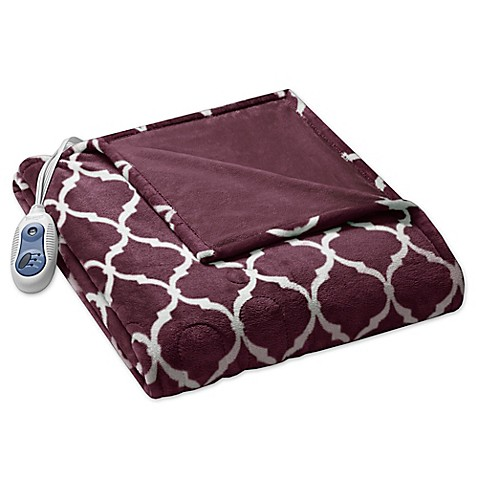 Beautyrest 174 Ogee Heated Throw Blanket Bed Bath Amp Beyond