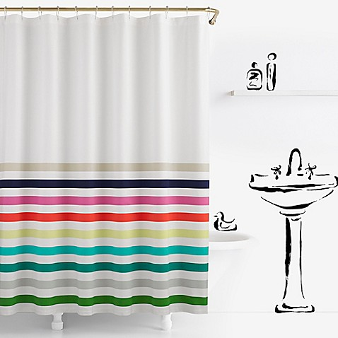 Kate spade new york candy stripe shower curtain bed bath for Bed bath and beyond kate spade