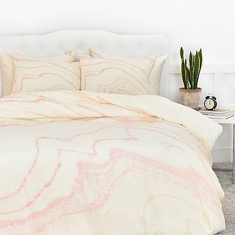 Deny Designs Rebecca Allen Blush Marble Duvet Cover Bed Bath Amp Beyond