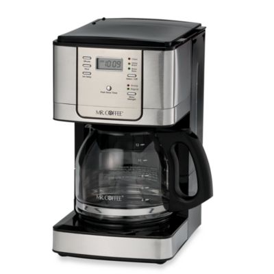 Coffee Maker Cleaning Mr Coffee : Mr. Coffee JWX Series 12-Cup Programmable Stainless Steel Coffee Maker - Bed Bath & Beyond