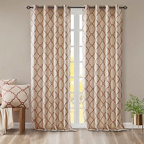 Madison Park Saratoga Grommet Top Window Curtain Panel
