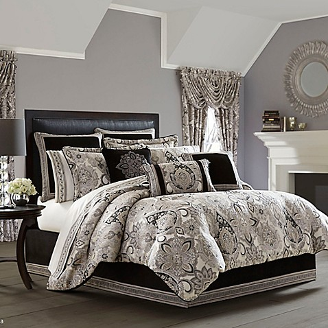 J queen new york guiliana comforter set bed bath beyond - Bed bath and beyond bedroom furniture ...