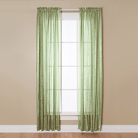 Aria Rod Pocket Sheer Window Curtain Panel Bed Bath Amp Beyond