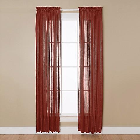 Buy Aria 84 Inch Rod Pocket Sheer Window Curtain Panel In