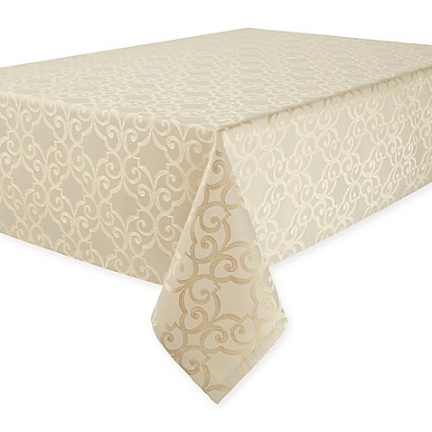Waterford 174 Linens Sorelle Tablecloth In Ivory Bed Bath