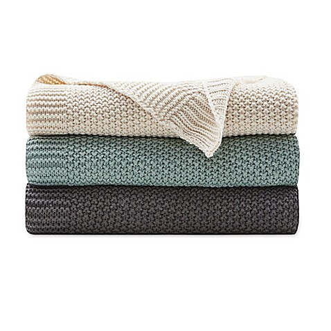 INK + IVY Bree Knit Throw Blanket at Bed Bath & Beyond in Cypress, TX | Tuggl