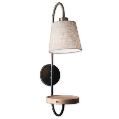 Wall Lamps Bed Bath Beyond : Adesso Jeffrey Wall Lamp in Brass - Bed Bath & Beyond