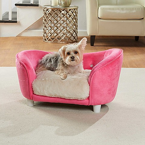 Enchanted Home Ultra Plush Dog Snuggle Pet Sofa In Pink Bed Bath Beyond