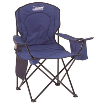 Cadeira Dobrável com Cooler Azul